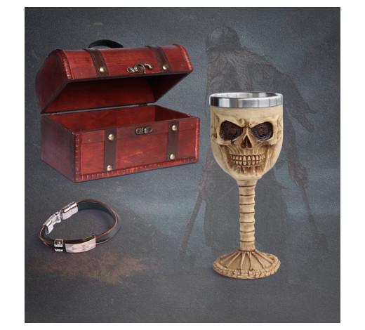 Cofre de Medieval - Copa cráneo