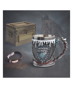 Cofre de Medieval - Taza Game of Thrones winter coming Coleccionable