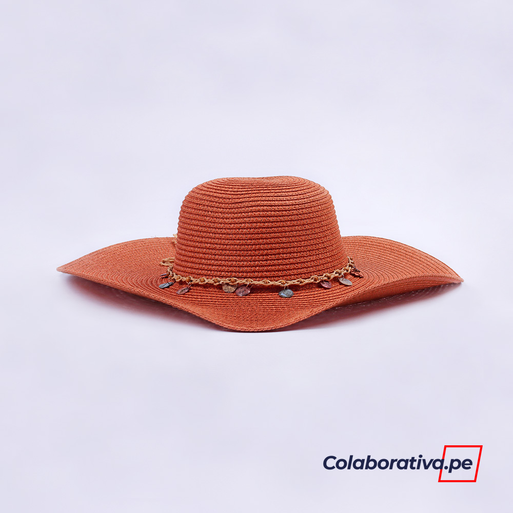 Sombrero Argollas Teja