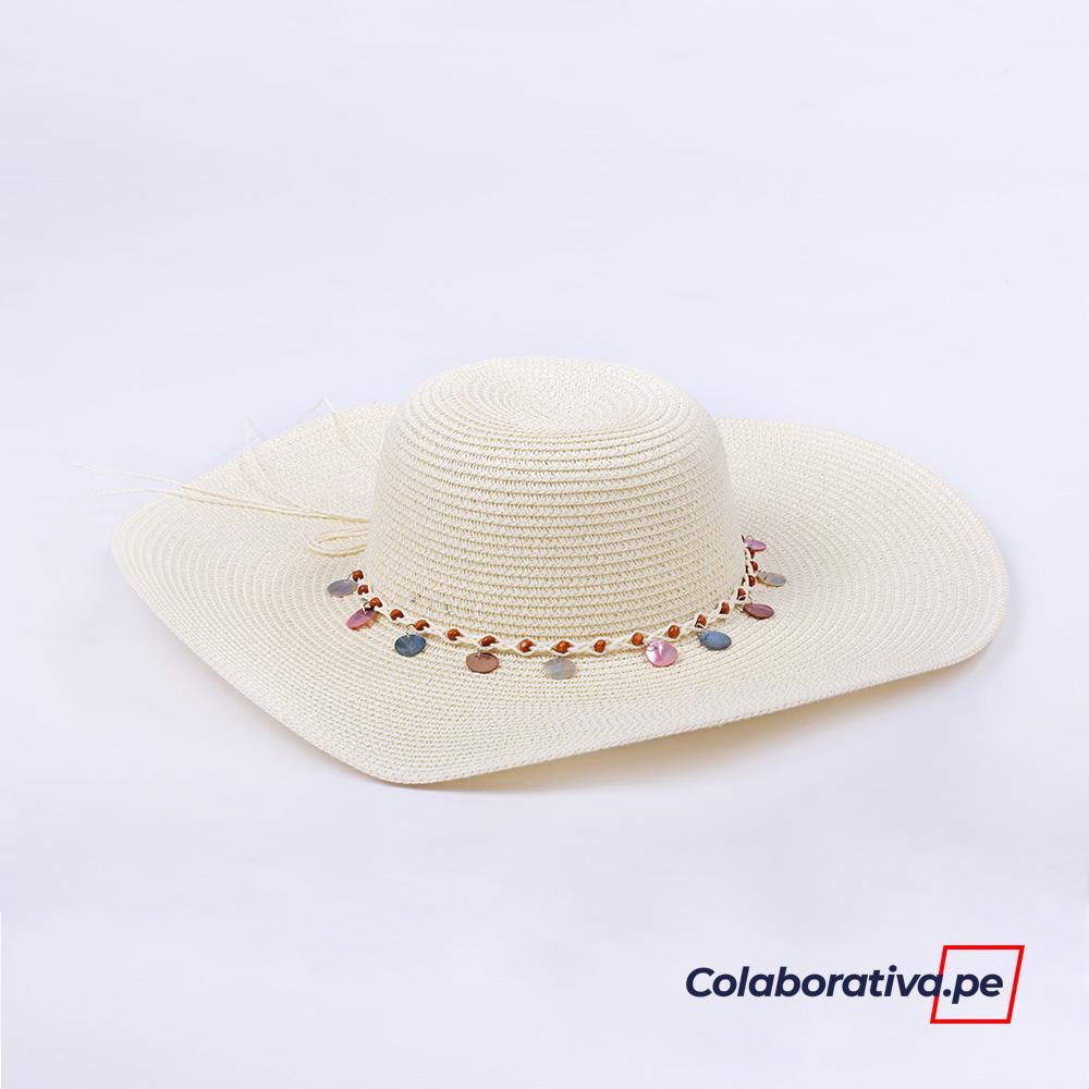 Sombrero con Argolla Crema