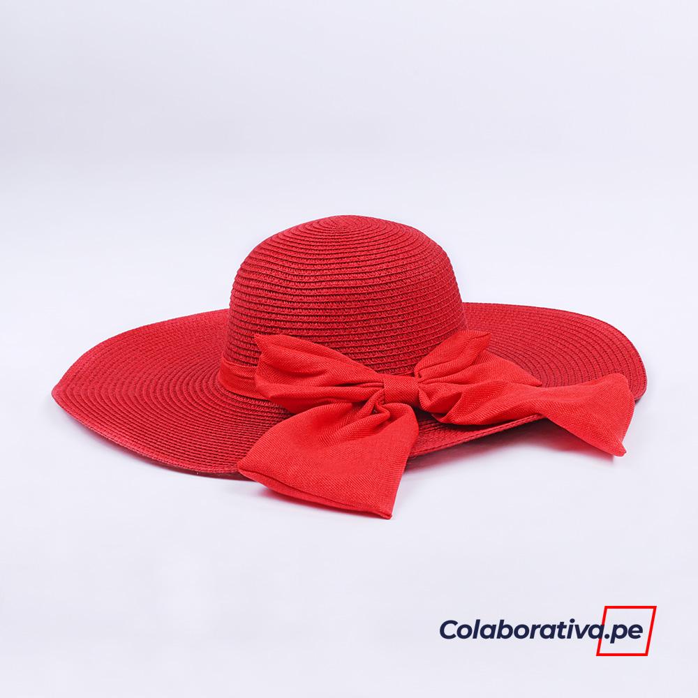 Sombrero Lazo Rojo