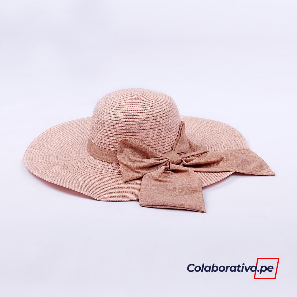 Sombrero Lazo Palo Rosa