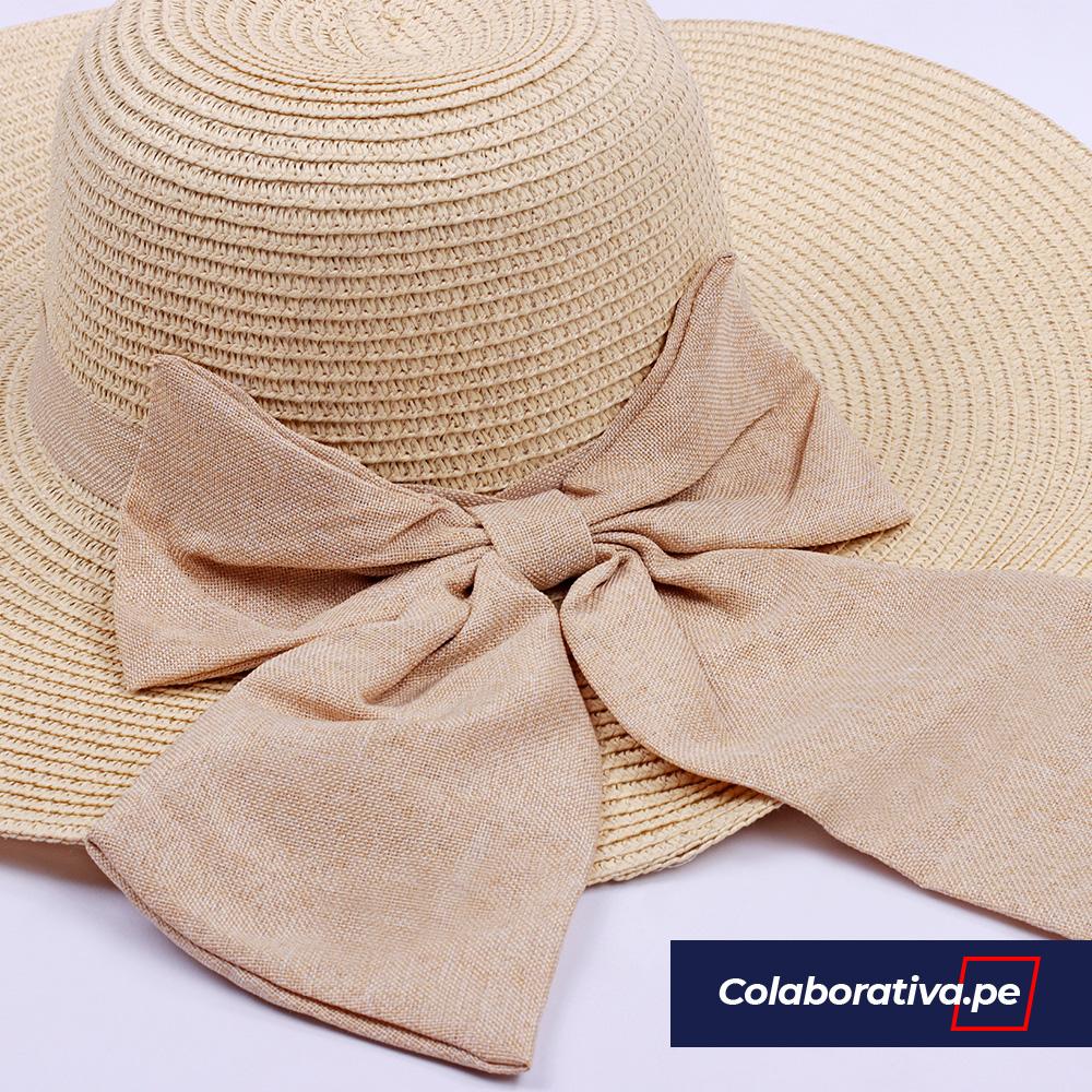 Sombrero Lazo Beige
