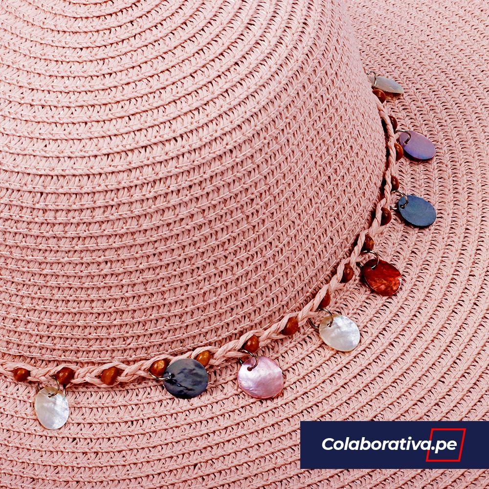 Sombrero Argollas Palo Rosa