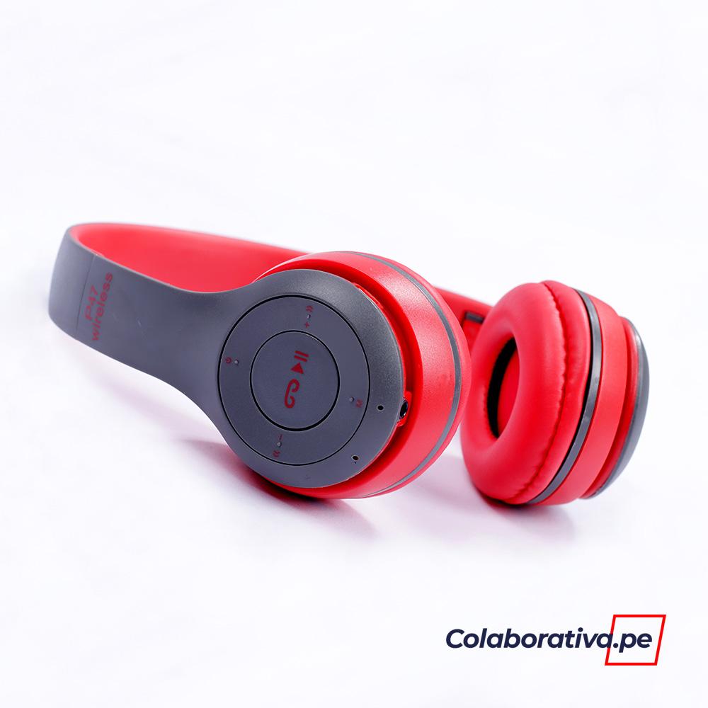 Audífonos P47 Bluetooth Rojo