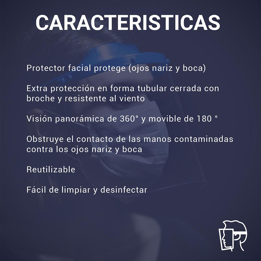 Protector Facial Rebatible 03 unidades / DELIVERY GRATIS