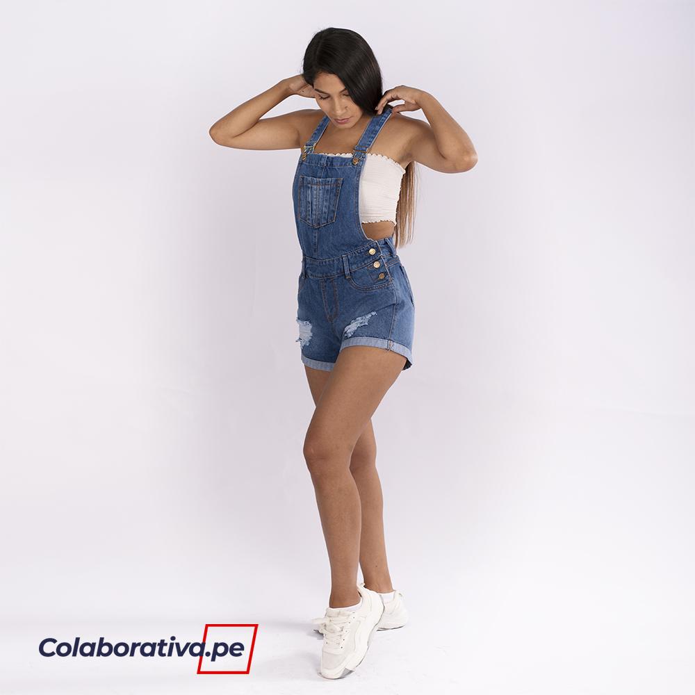 Shorts Overol - Celeste