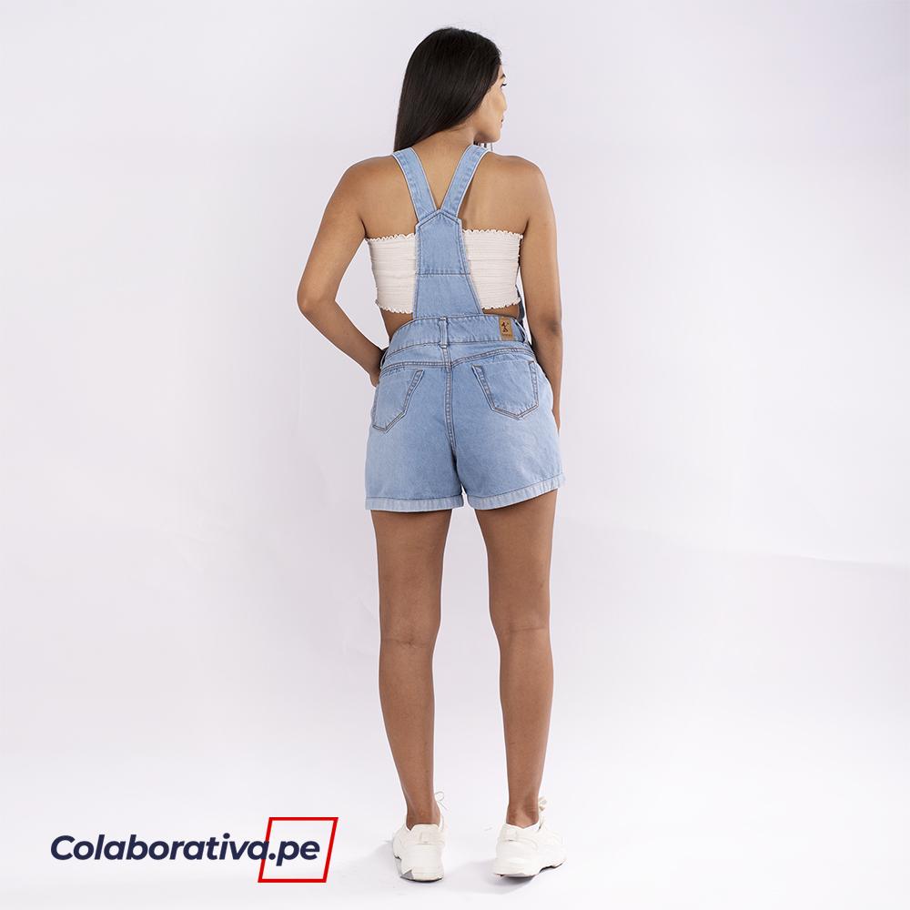 Shorts Overol - Hielo