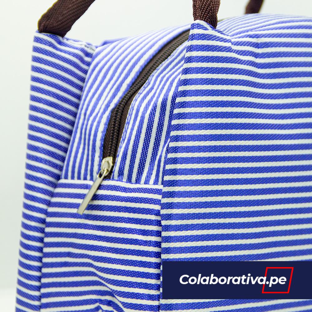Bolso Térmico - Rayas Azules