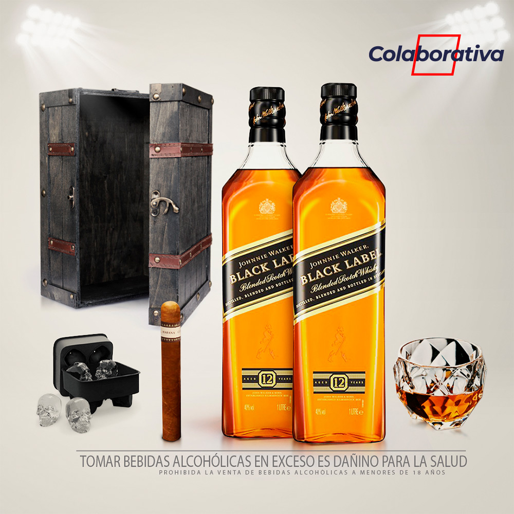 Pack Whiskero Rústico Johnnie Walker 02 Black Label