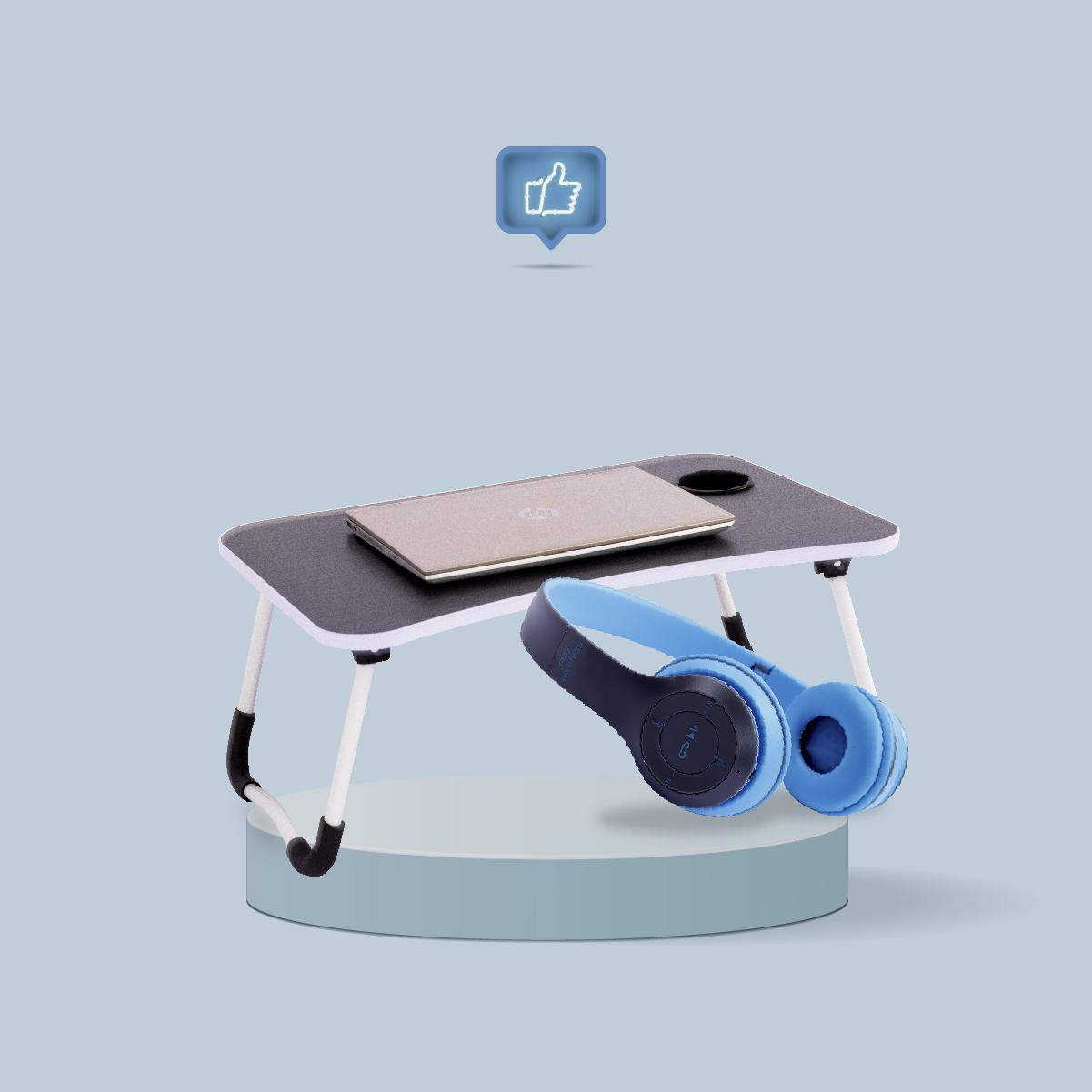 Mesa Plegable Portátil + Audífonos Bluetooth