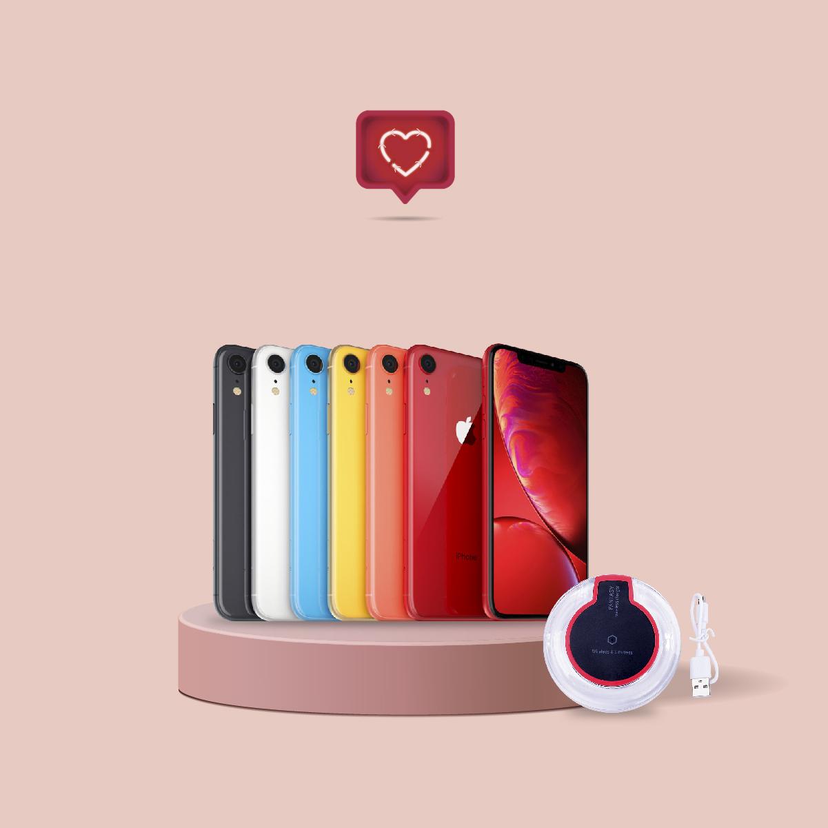 iPhone XR (64 GB) - Nuevo + Cargador inalámbrico