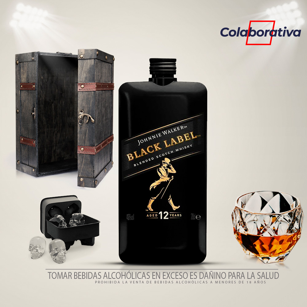Pack mini Johnnie Walker Black Label 200 ml