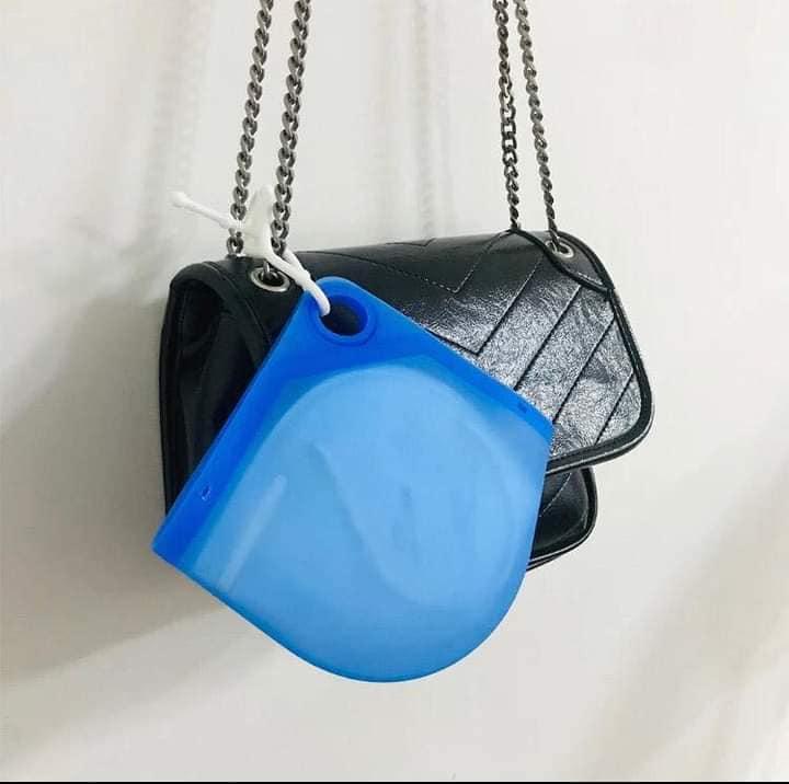 Porta Mascarillas De Silicona N95/KN95 - Azul